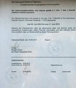 Am Rugen Barg - Bekanntmachung des Aufstellungsbeschlusses - S. 2