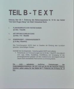 Am Rugen Barg - Text