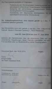 Nördlich der Schillerstraße - Bekanntmachung des Aufstellungsbeschlusses - Seite 2